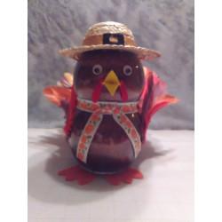 Handmade Glass Holiday Turkey