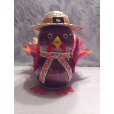 Handmade Glass Holiday Turkey