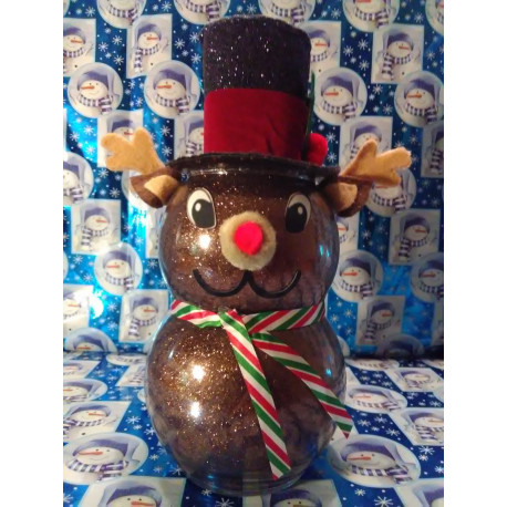 Handmade Glass Christmas Rudolph