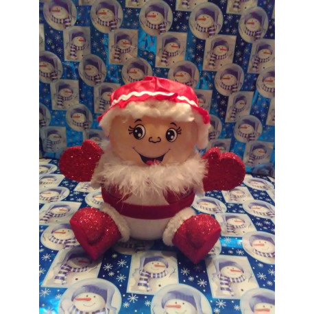 Handmade Glass Christmas Mrs. Claus