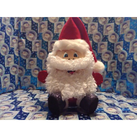Handmade Glass Christmas Santa Claus