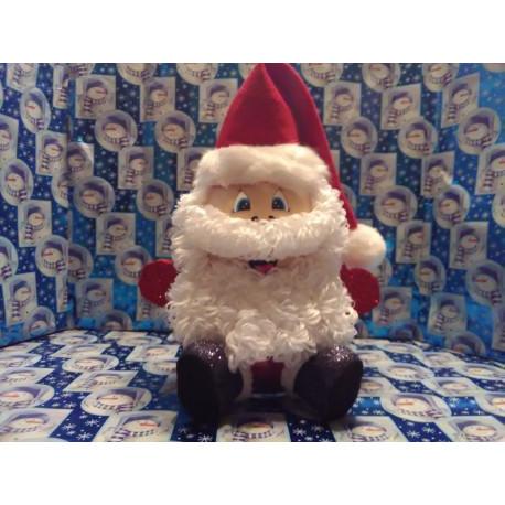 Handmade Glass Christmas Santa Claus
