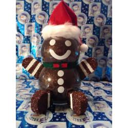 Handmade Glass Christmas Gingerbread Man