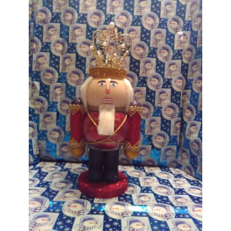 Handmade Glass Christmas Nutcracker