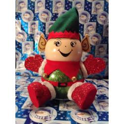 Handmade Glass Christmas Elf