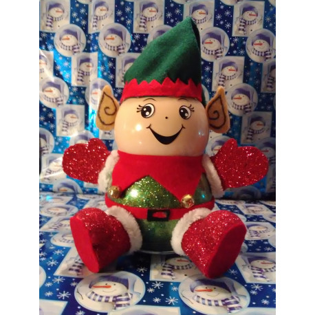 Handmade Glass Christmas Elf