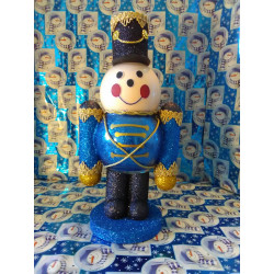 Handmade Glass Christmas Toy Soldier