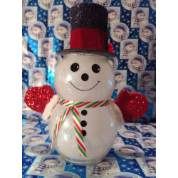 Handmade Glass Christmas Snowman