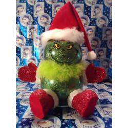 Handmade Glass Christmas Grinch