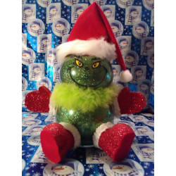 Handmade Glass Christmas Grinch