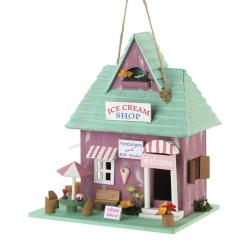 Ice Cream Shop Wood Bird House