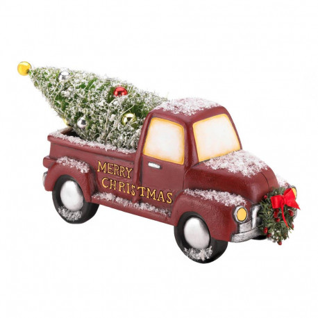 Light-Up Christmas Tree Delivery Truck with Wreath