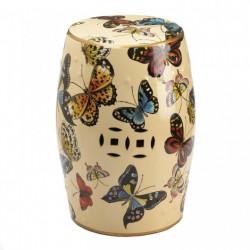 Butterflies In Flight Decorative Stool Table
