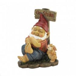 On Strike Garden Gnome Statue