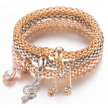 Musical Note Pendant Bracelet