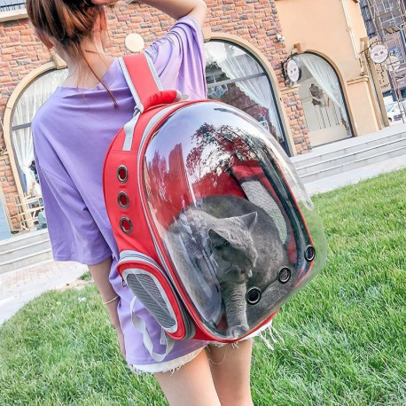 Portable Pet Cat Dog Puppy Space Backpack Carrier Bubble Transparent Sightseeing Space Capsule Design Backpack