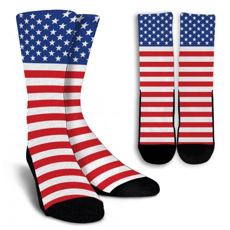 American Flag Crew Socks