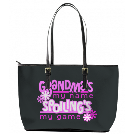 Grandma's Spoiling's Leather Tote Bag (Large)