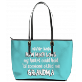 I never Knew Leather Tote Bag (Large)