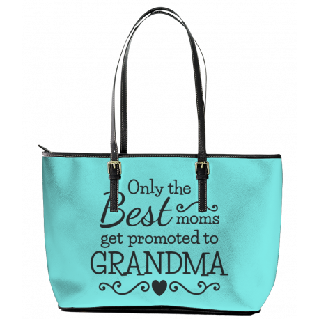 Only the Best Moms Leather Tote Bag (Large)