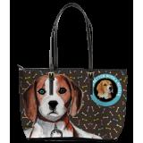 Beagle Leather Tote Bag (Large)