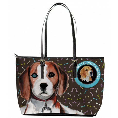 Beagle Leather Tote Bag (Large)