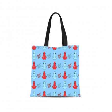 Yoga Cat Canvas Tote Bag
