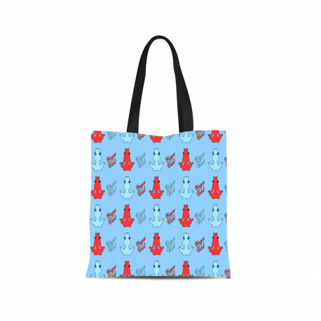 Yoga Cat Canvas Tote Bag