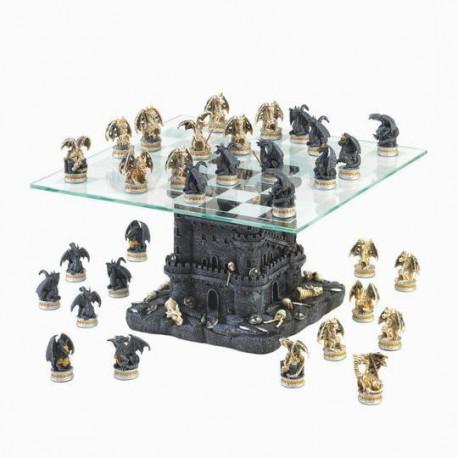Black Tower Dragon Chess Set 10015192