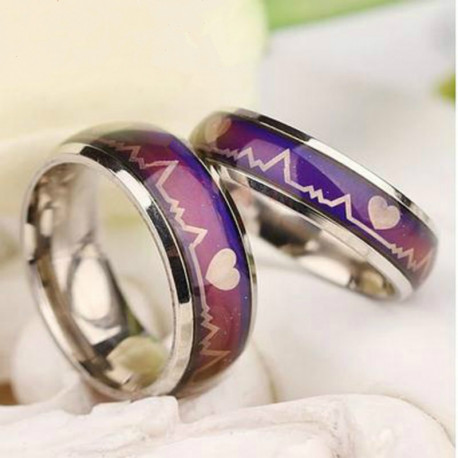 Mood Ring Color Temperature Changing Magic Stainless Steel