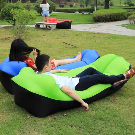 Camping Lazy Bed Sleeping Bag Inflatable Air Sofa Portable Beach Outdoor/Indoor Lounger