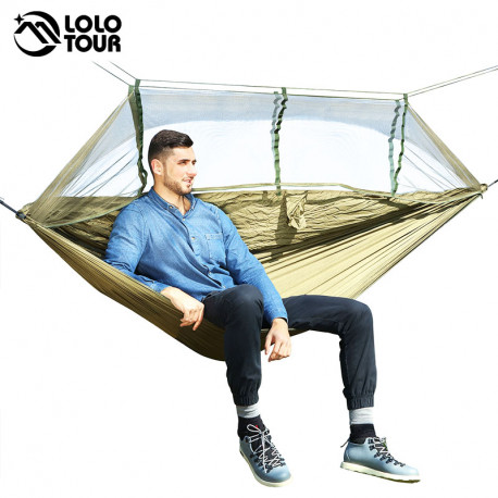 1-2 Person Outdoor Mosquito Net Parachute Hammock Camping