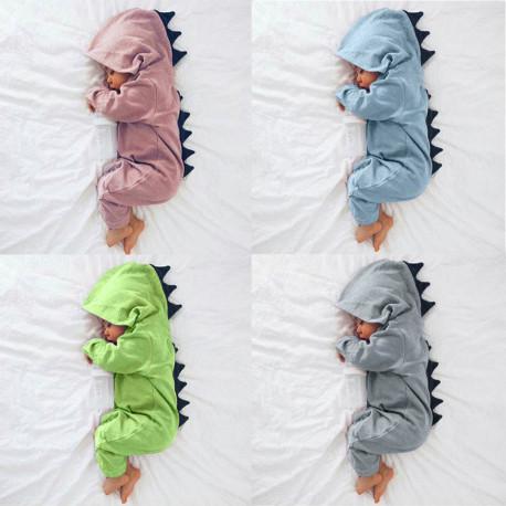 Baby Dinosaur Costume Warm Cotton Romper Playsuit