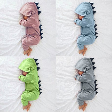 Baby Dinosaur Costume Warm Cotton Romper Playsuit