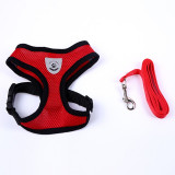 Breathable Mesh Small Dog Pet Harness and Leash Set