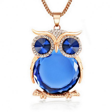 Owl Fashion Rhinestone Necklace