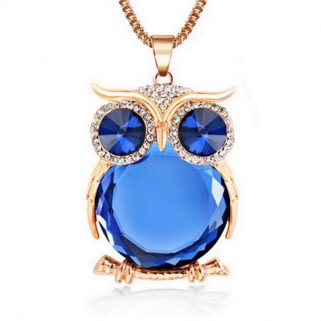 Owl Fashion Rhinestone Necklace