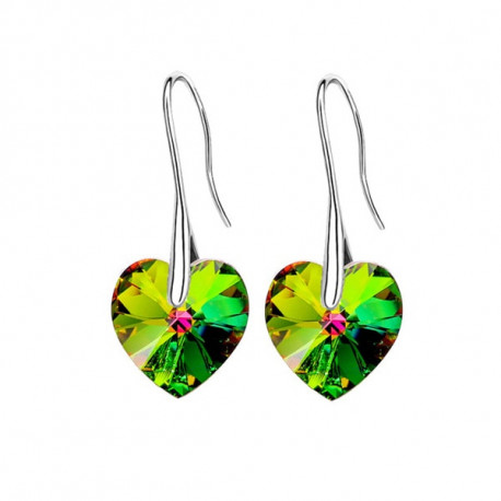 Drop Earrings Hanging Hearts Crystals From Swarovski