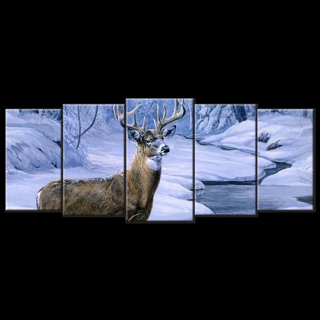 Deer Hunting - 5 panels