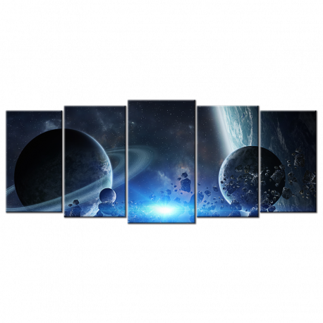 Group Of Planets 2 - 5 panels