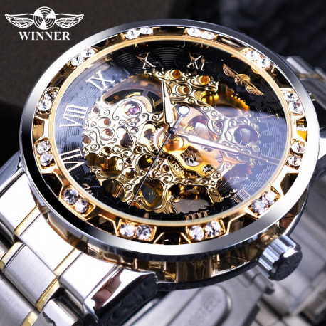 MEN'S TRANSPARENT DISPLAY ROYAL DESIGN WATCH