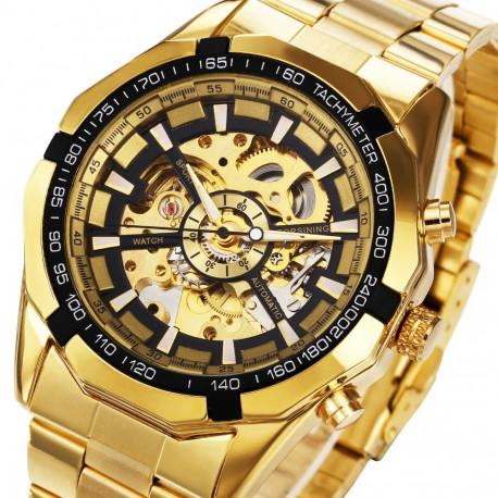 LUXURY GOLD AUTOMATIC/ MECHANICAL WATCH FOR MEN/BUSINESSMEN'S