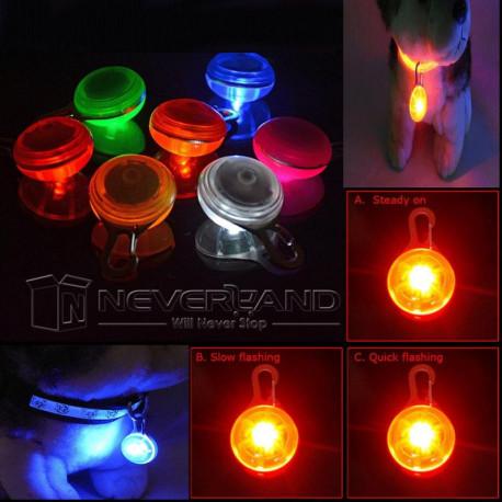 Dog LED Night Safety Flash Light Pet Clip Circular Blinker