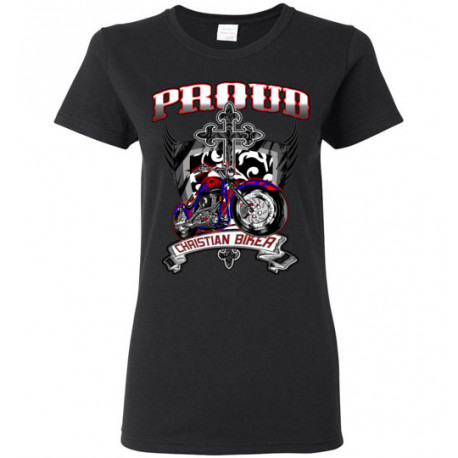 Proud Christian Biker  Women's T-Shirt