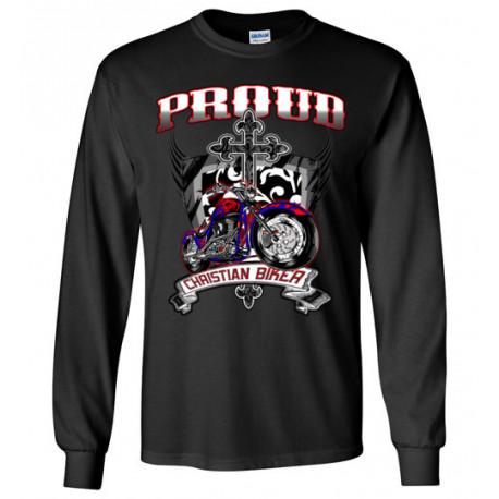 Proud Christian Biker Long Sleeve T-Shirt