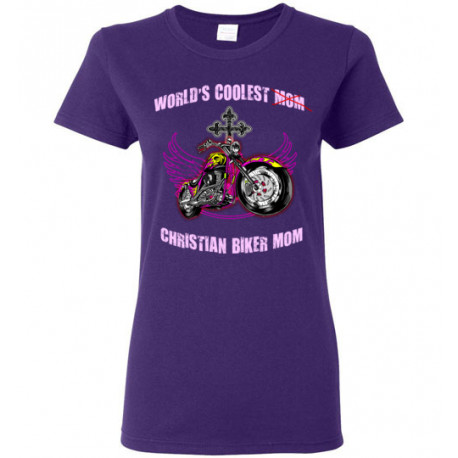 (SALE) World's Coolest Christian Biker Mom! Women's Style T-Shirt