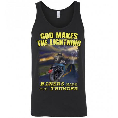 God Makes the Lightning Bikers Make the Thunder! Tank Top (Unisex)