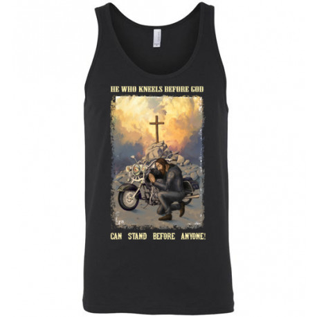 He Who Kneels Before God Can Stand Before Anyone! Unisex Tank Top