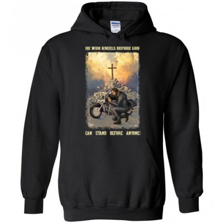 He Who Kneels Before God Can Stand Before Anyone! Hoodie
