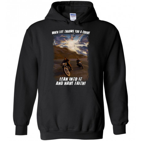When Life Throws You a Curve Lean Into it and Have Faith Artwork! Hoodie